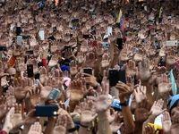 مراسم تحلیف ریاست جمهوری خودخوانده خوان گوآیدو +عکس