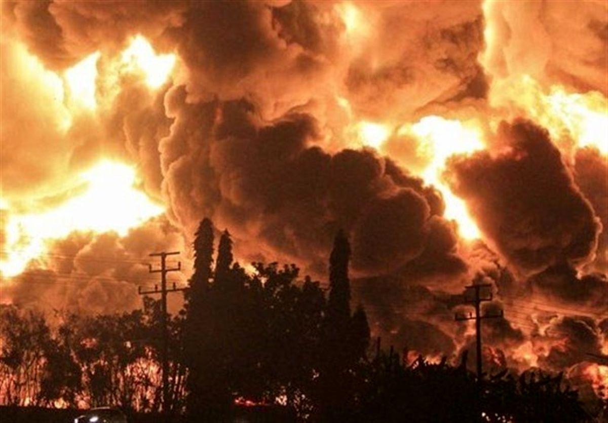 پالایشگاه بزرگ اندونزی آتش گرفت