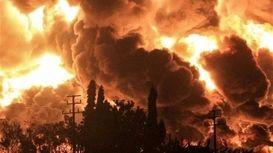 آتش سوزی در اطراف یک مرکز نظامی در حومه حیفا + فیلم