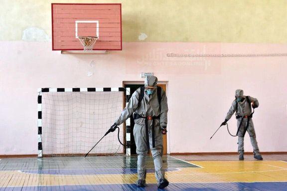 تلاش برای مقابله با کرونا در یک مدرسه بلاروس +عکس