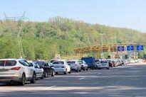 ترافیک در جاده هراز و چالوس سنگین است