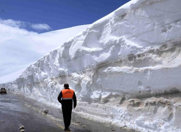 بارش برف سنگین در جاده کرج - چالوس
