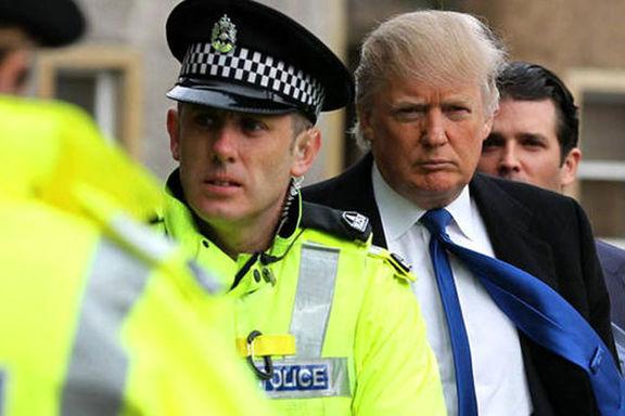 امنیت سفر ترامپ به انگلیس 18میلیون پوند هزینه برداشت