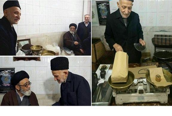 امام جمعه تبریز در مغازه پیرمرد خبرساز این روزها +عکس