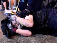 شدیدترین درگیری بین معترضان و پلیس هنگ کنگ +فیلم