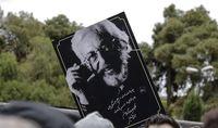 لیلا حاتمی در مراسم تشییع جمشید مشایخی +عکس