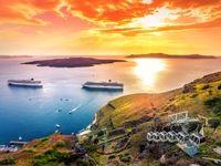 تصاویری منحصربفرد از جزیره جادویی سانتورینی یونان +تصاویر