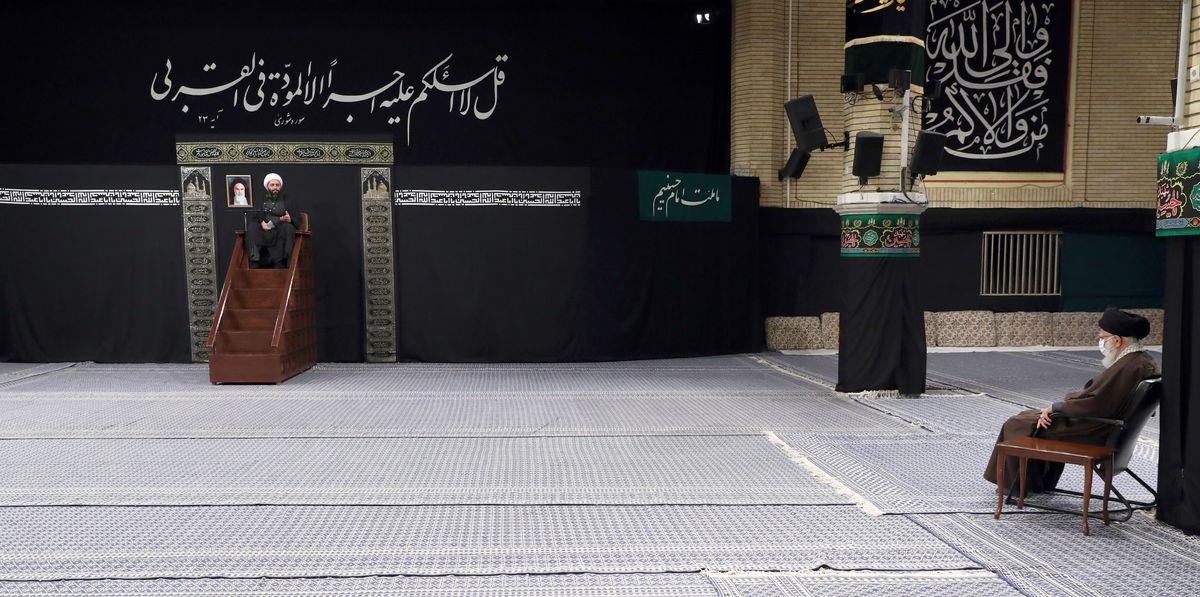 مراسم عزاداری رحلت رسول اکرم(ص) در حسینیه امام خمینی برگزار شد