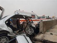 مرگ زن و مرد جوان در پی متلاشی شدن خودرو +عکس