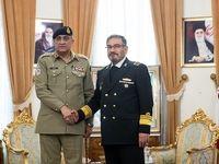دیدار فرمانده ارتش پاکستان با علی شمخانی +عکس