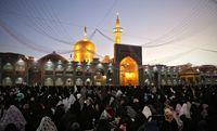 حال و هوای شب عید غدیر در مشهد +عکس