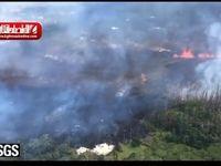 فوران آتشفشان در هاوایی +فیلم
