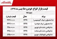 قیمت خودرو دنا در تهران +جدول