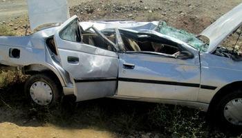 واژگونی خودرو یک کشته برجا گذاشت