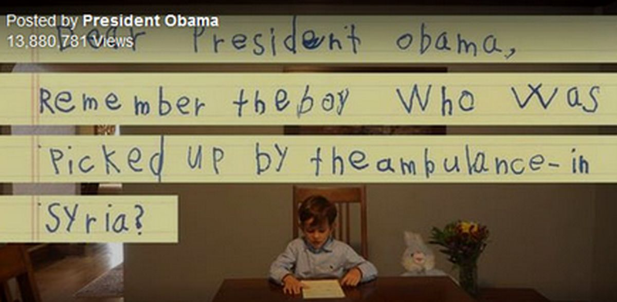 نامه کودک ۶ ساله نیویورکی به اوباما+ تصاویر