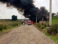 آتشسوزی خط لوله انتقال بنزین اهواز - لرستان/ این حادثه خسارت جانی نداشته است