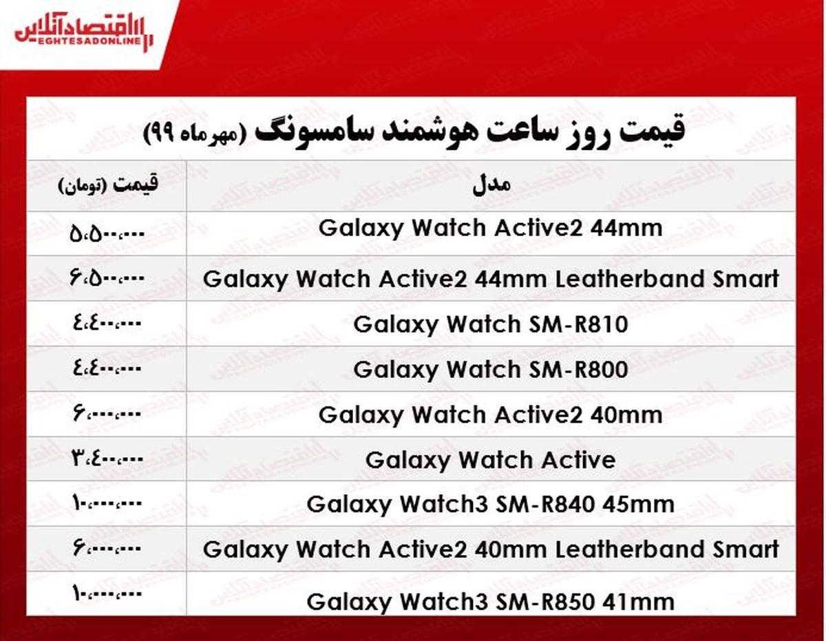 قیمت روز انواع ساعت هوشمند سامسونگ در بازار +جدول