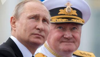 پوتین در جشن نیروی دریایی +فیلم