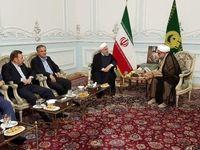 دیدار و گفتگوی رئیس جمهور با حجت الاسلام والمسلمین مروی تولیت آستان قدس رضوی +تصاویر