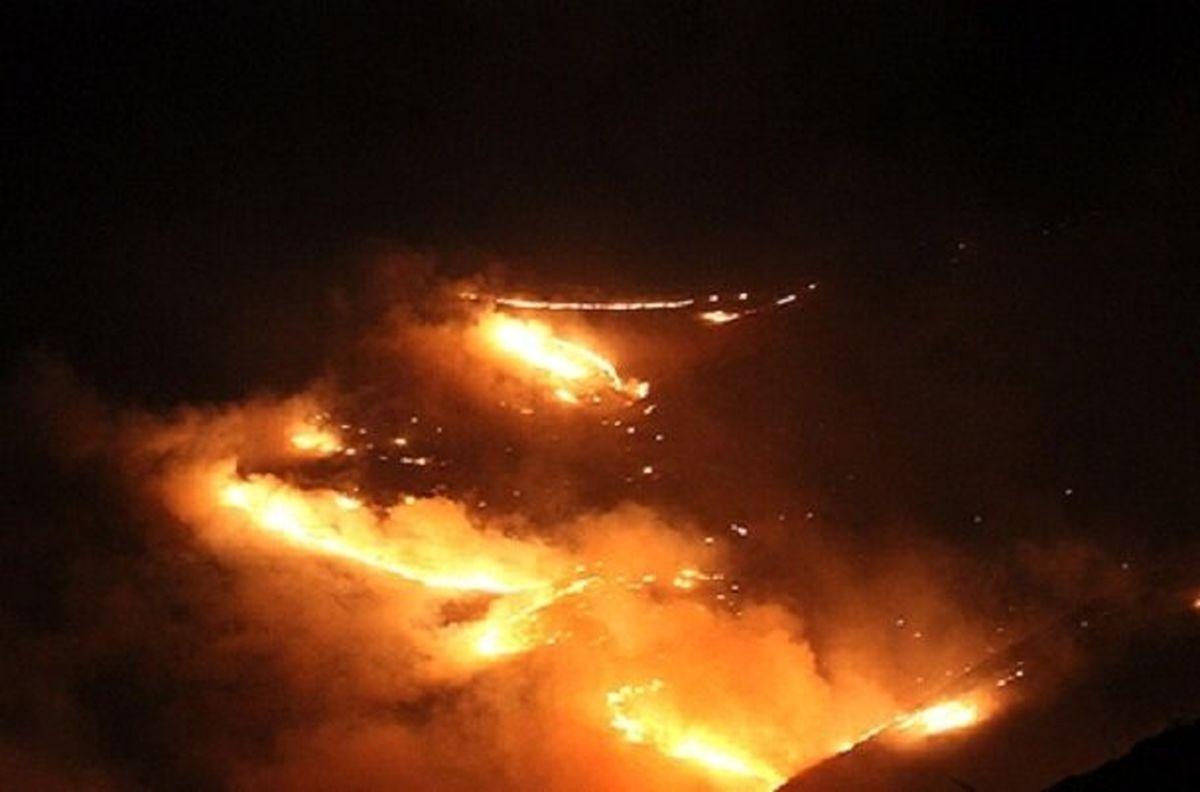 وقوع آتشسوزی گسترده در مراتع کنگاور