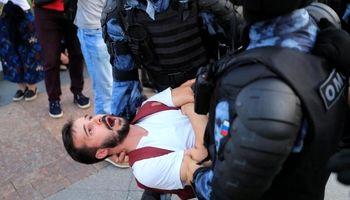 تظاهرات مخالفان پوتین در مسکو +تصاویر