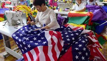 جنگ تجاری به تولید کنندگان پرچم آمریکا در چین رسید