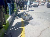فرار خودرو پس از تصادف مرگبار با موتورسیکلت +عکس