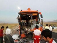 ۳ کشته و ۱۳ زخمی در تصادف اتوبوس +تصاویر