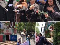 ورود پیکر شهدای ترور به دانشگاه تهران +عکس