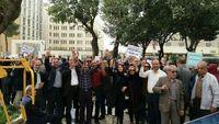تجمع مالباختگان کاسپین مقابل مجلس +عکس