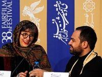دست شکسته آقای نویسنده در جشنواره فجر +عکس
