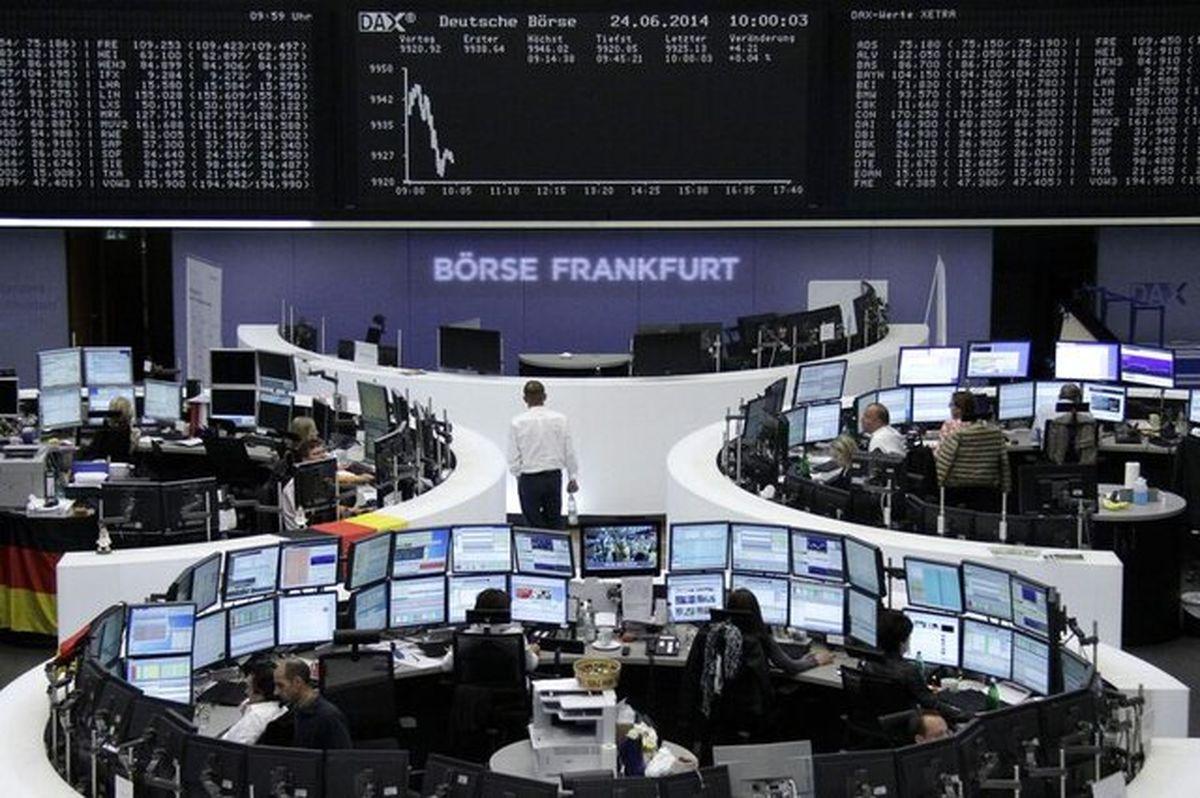 ریزش شاخص بورس های اروپا