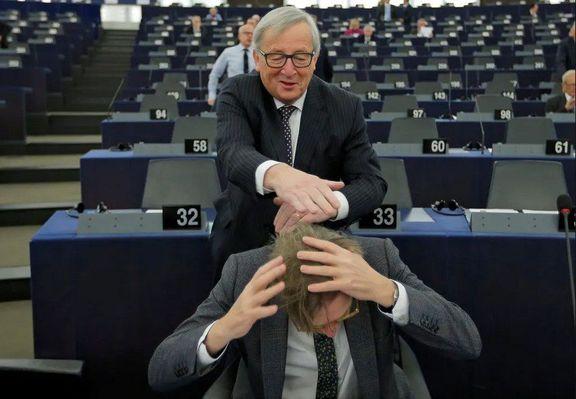 شوخی دو مقام اروپایی +عکس