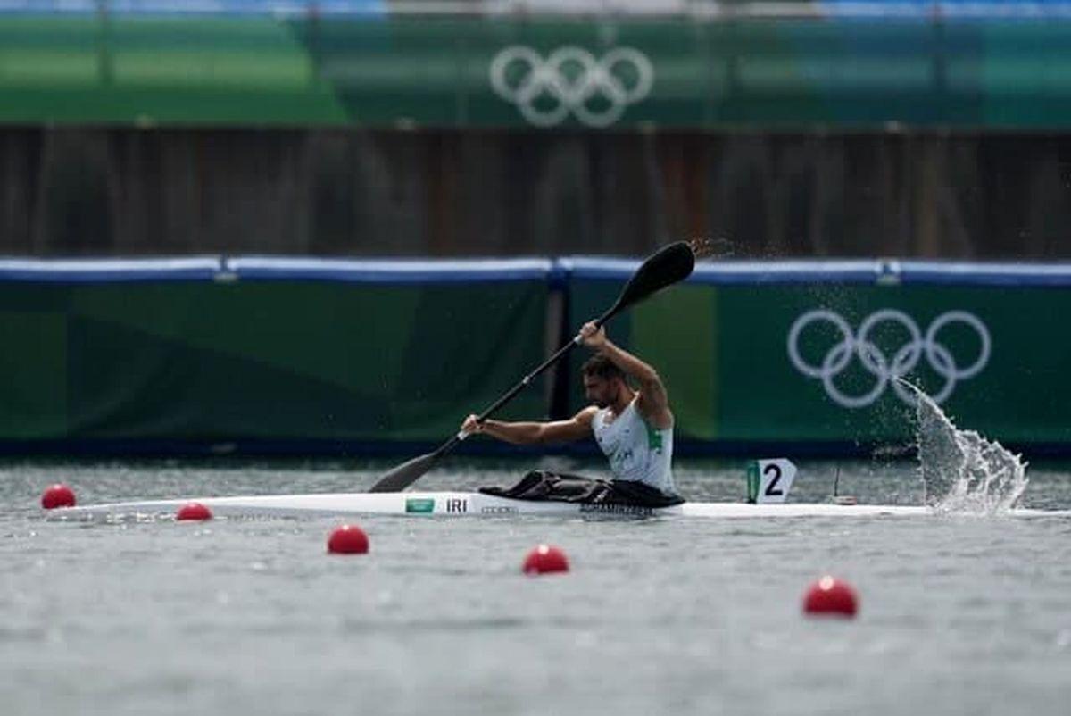 قایقران ایران راهی یک چهارم نهایی المپیک شد