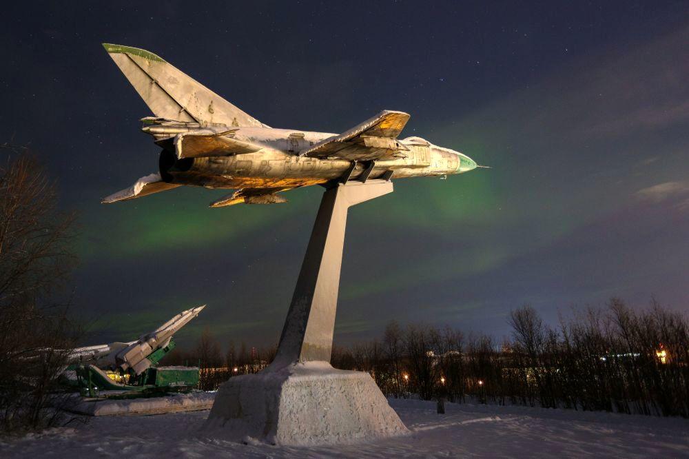 شفق قطبی در مورمانسک