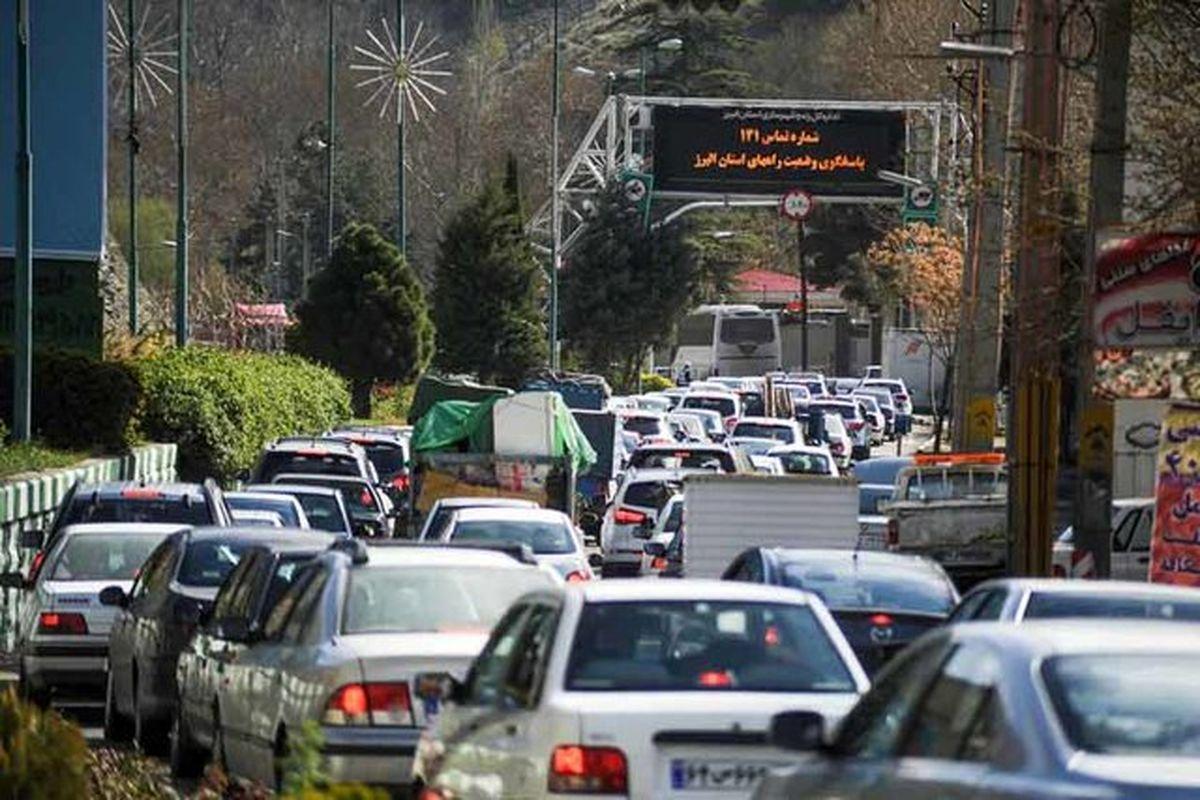 ترافیک سنگین در کرج - چالوس
