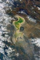 تصویری از دریاچه ارومیه در اینستاگرام یک فضانورد روس