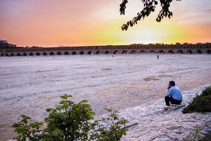 خشک شدن یک رودخانه +عکس