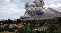 فوران کوه آتشفشانی در ژاپن +عکس