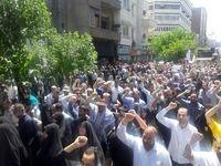 بدرقه باشکوه شهدای ترور توسط مردم تهران