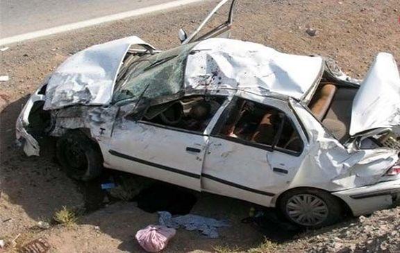 واژگونی خودرو ۲کشته برجا گذاشت