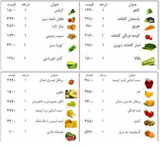 قیمت میوه و صیفی در میادین میوه و تربار مشهد +جدول