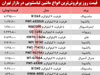 نرخ انواع ماشین لباسشویی در بازار تهران؟ +جدول
