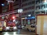 آتشسوزی در انبار پارچه در خیابان انقلاب