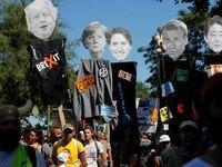 تظاهرات علیه ماکرون و گروه ۷ در شهر بایون فرانسه +فیلم
