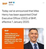 تغییر در ردههای بالای شرکت بی اچ پی