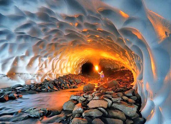 تونل برفی ازنا ثبت ملی شد +عکس