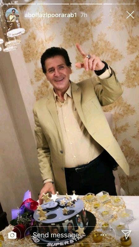 استایل ابوالفضل پورعرب در جشن تولد ۵۸ سالگی +عکس