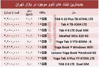 قیمت انواع تبلت لنوو در بازار +جدول