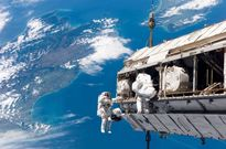 سلفی فضانورد ناسا در ایستگاه فضایی